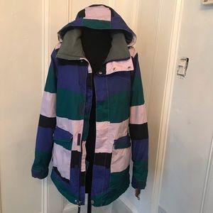 Special Blend women's striped snowboarding jacket